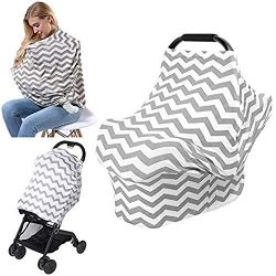 Nursing Breastfeeding Cover Scarf, AiKiddo Shopping Cart Stroller High Chair Covers, Car Seat Ca ...
