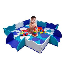 Wee Giggles Play Mats for Infants | Non Toxic Foam Play Mat with Fence | Infant Floor Mat for Tu ...