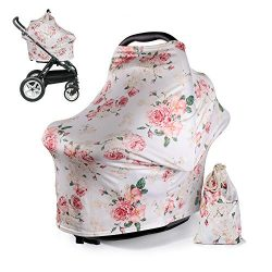 DSYJ Nursing Cover Baby Breastfeeding Scarf with Free Matching Pouch, Car Seat Covers, Boys and  ...