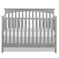 Dream On Me Davenport 5 Piece Convertible Crib, Storm Grey