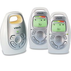 VTech DM223-2 Audio Baby Monitor with Two Parent Units, Up to 1, 000 ft of Range, Vibrating Soun ...