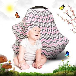 Cool Beans Baby Car Seat Canopy and Nursing Cover | Multiuse – Soft and Stretchy Fabric Ea ...