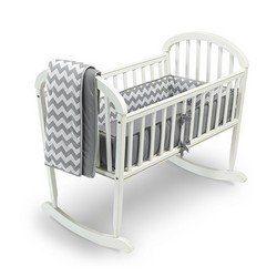 Chevron Cradle Bedding – Color: Grey, Size: 15×33