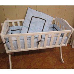 Babykidsbargains Friendship Cradle Bedding, Blue, 15″ x 33″