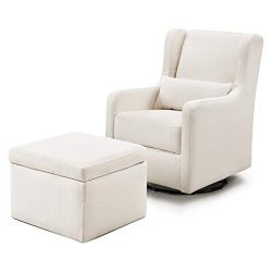 Carter's by Davinci Adrian Swivel Glider with Storage Ottoman in Water Repellent and Stain ...