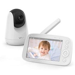 Baby Monitor, VAVA 720P 5″ HD Display Video Baby Monitor with Camera and Audio, IPS Screen ...