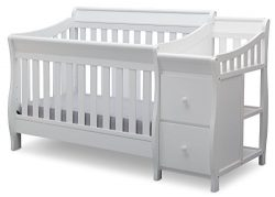 Delta Children Bentley S Convertible Crib N Changer, White