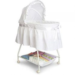 Delta Children's Products Sweet Beginnings Bassinet, White (White)