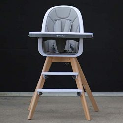 Be Mindful Modern High Chair with Grey Pad