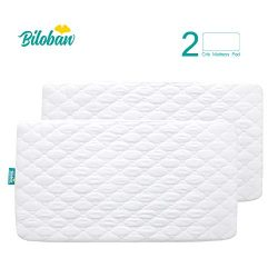 Biloban Crib Mattress Protector Waterproof (2 Pack), for 52″ × 28″ Standard Crib, Ul ...