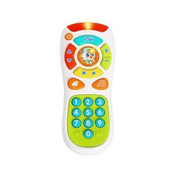 VATOS Baby TV Remote Control Toy, Baby Toys, Learning Remote Toy with Light Music for 6 Months + ...
