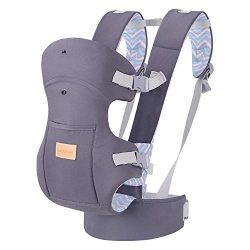 Ergonomic Baby Carrier, Soft & Breathable Baby Wrap Backpack Front and Back for Newborn& ...