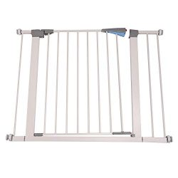 Walnest 28″ x 30''Wide Indoor Safety Gates Baby Gate Decorative Heavy Duty Metal Ideal for ...