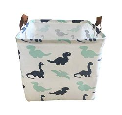 Canvas Storage Bins Toy Basket Collapsible Box Chest Organizer Water-Resistant Nursery for edroo ...
