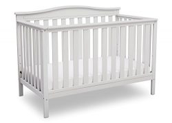 Delta Children Independence 4-in-1 Convertible Baby Crib, Bianca White