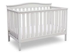 Delta Children Independence 4-in-1 Convertible Baby Crib, Bianca White
