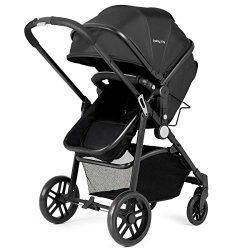 INFANS 2 in 1 Baby Stroller, High Landscape Infant Stroller & Reversible Bassinet Pram, Fold ...
