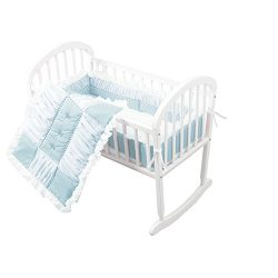 Baby Doll Sweet Touch Baby 3 Piece Cradle Bedding Set, Blue