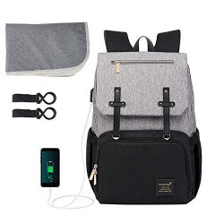 Baby Diaper Bag Backpack, ionlyou Multi-Function Waterproof Diaper Bag Backpack for Mom Built-in ...