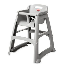 Rubbermaid Commercial Products Sturdy High-Chair for Child/Baby/Toddler, Unassembled, Platinum ( ...