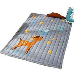 Prula Non Slip Nursery Rugs Animal Fawn Soft Play Mats for Kids Bedroom Boys Girls Playing Room  ...