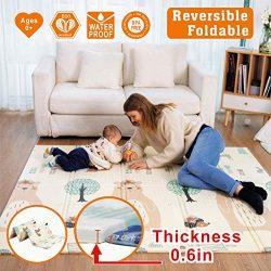 Baby Play mat, playmat,Baby mat Folding Extra Large Thick Foam Crawling playmats Reversible Wate ...