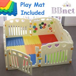New Baby Playpen with Play MAT Included | Play Yards 8 Pcs Including Fun Activity Panel | Fitted ...