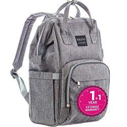 Diaper Bag Backpack – Exclusive 2019 – Large Multi-Function Waterproof Baby Travel B ...