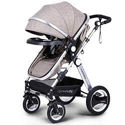 Belecoo Baby Stroller for Newborn and Toddler – Convertible Bassinet Stroller Compact Sing ...