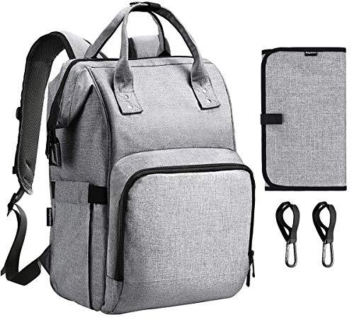 Diaper Bag Backpack, Raydem Large Multifunction Travel Backpack Stylish Waterproof Maternity Nap ...