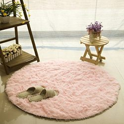 FUT Oval Childrens Place Mats – Fluffy Rugs Anti-Skid Shaggy Area Rug, Multi Colors Carpet ...