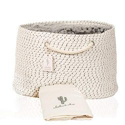 XXL Extra Large Cotton Rope Basket with Exclusive Laundry Bag: Wide Storage Organizer for Living ...