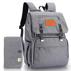 Diaper Bag Backpack for Mom and Dad – Large Travel Baby Bags – Multi-Functional Mate ...