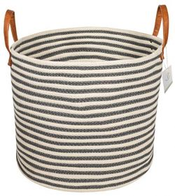 Large Rope Storage Basket and Organizer – Woven Cotton Storage Bin for Blankets, Toys, Lau ...