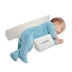 Newborn Baby Side Positioning Sleep Wedge Pillow for Boys and Girls May Prevent Flat Head and Ac ...