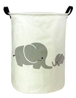 HOUSESTORAGE Laundry Hamper Storage Bin Baskets Foldable Nursery Laundry Basket for Organizing O ...