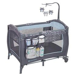 Baby Trend PY86B52B Trend-E Nursery Center Play Yard w/Wheels, Starlight Blue