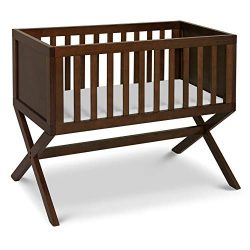 DaVinci Bailey Bassinet with 1″ Waterproof Cradle Pad, Converts to Toy Box, Espresso