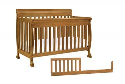 DaVinci Kalani 4-in-1 Convertible Crib with Toddler Bed Conversion Kit, Chestnut