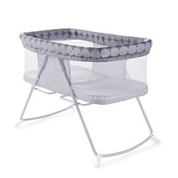 Ingenuity Foldaway Rocking Bassinet Classic – Crosby – Portable Folding Rocking Bassinet