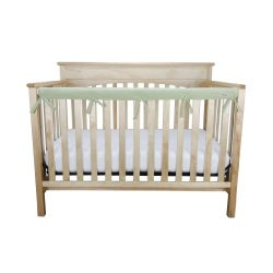 Trend Lab Waterproof CribWrap Rail Cover – for Narrow Long Crib Rails Made to Fit Rails up ...