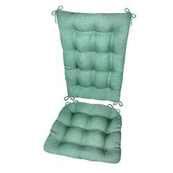 Rocking Chair Cushions – Hayden Turquoise – Size Standard – Reversible, Latex  ...