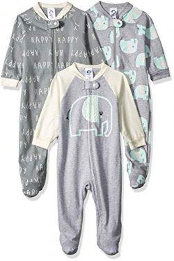 Gerber Baby 3-Pack Organic Sleep 'N Play, Happy Elephant, 3-6 Months