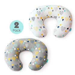 Stretchy Nursing Pillow Covers-2 Pack Nursing Pillow Slipcovers for Breastfeeding Moms,Ultra Sof ...