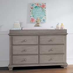 Oxford Baby Kenilworth 6 Drawer Dresser, Stone Wash