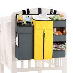 Diaper Organizer, Livememory Nursery Baby Hanging Diaper Organizer Caddy Stacker for Changing Ta ...