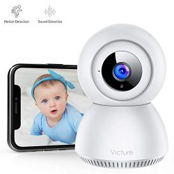 Victure 1080P FHD Baby Monitor with 2.4G WiFi Wireless IP Home Security Camera Indoor Surveillan ...