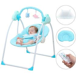 CBBAY Baby Swing Chair Electric Cradle Automatic Bassinet Baby Basket Bed Newborn Crib Rocking M ...