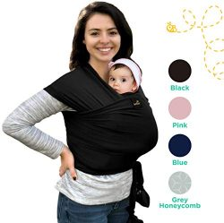 Lightweight, Natural & Breathable My Honey Wrap Baby Carrier Sling – for Infants & ...