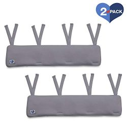 Delta Children Waterproof Fleece Crib Rail Covers/Protectors for Short Side Rails, 2 Pack, Grey